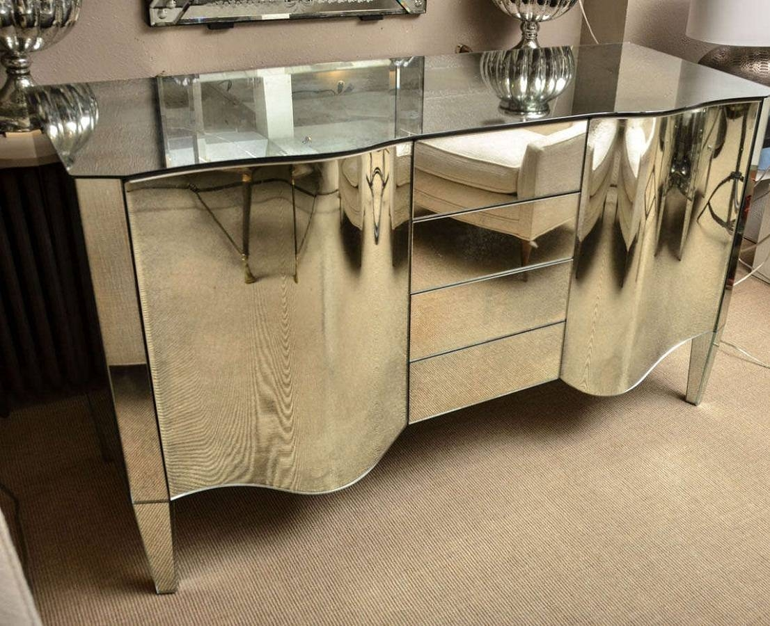 Mirrored Sideboard In Mirrored Sideboard (View 10 of 20)