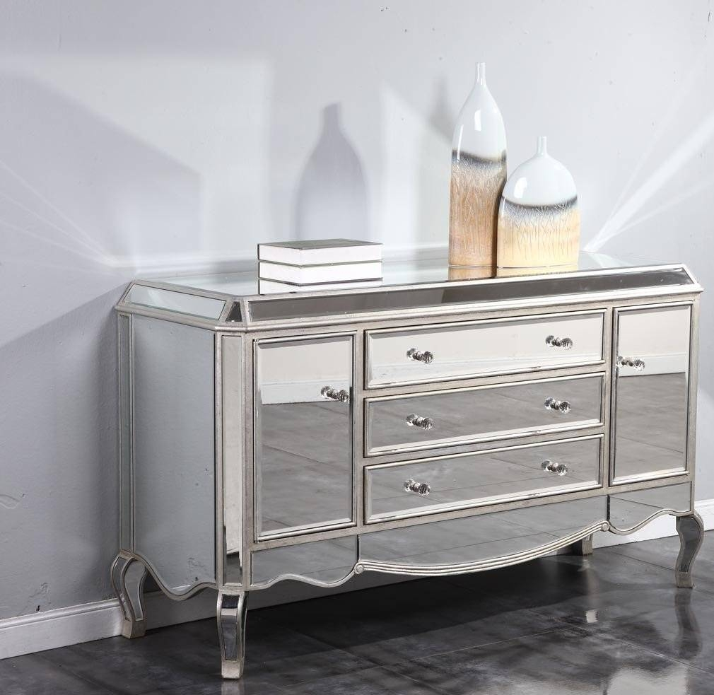 Mirrored Sideboard With Globe And Vase — Curtain – Mirrors – Wall For Mirrored Sideboard (View 14 of 20)