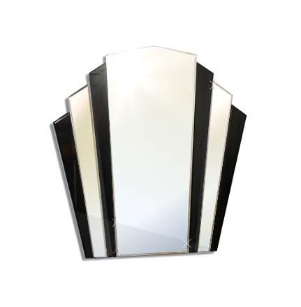Mirrors And Glass – Mirrors : Small Art Deco Fan Shape Mirror Pertaining To Art Deco Mirrors (#19 of 20)