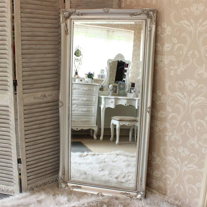 Mirrors: Astonishing Free Standing Wall Mirror Floor Mirror Ikea With Regard To Ornate Floor Length Mirrors (#26 of 30)