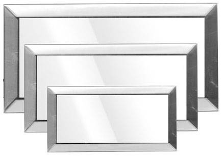 Mirrors, Beveled Glass – Rectangular – National Artcraft With Small Bevelled Mirrors (#26 of 30)