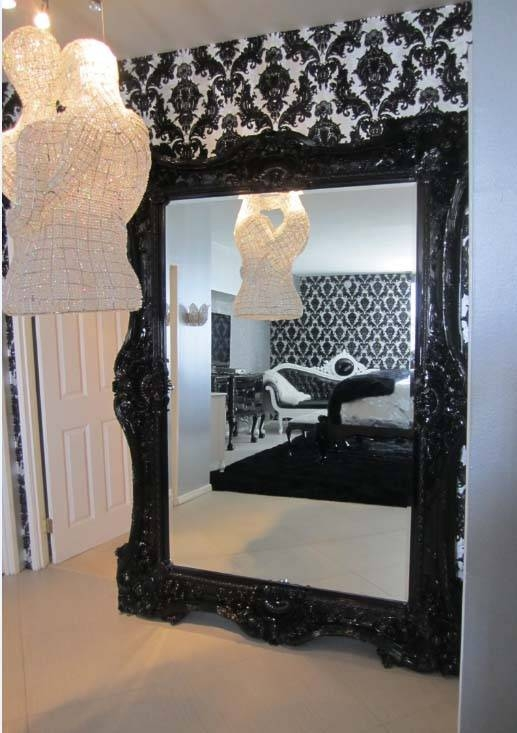 Mirrors – Diva Rocker Glam With Black Baroque Mirrors (View 7 of 20)