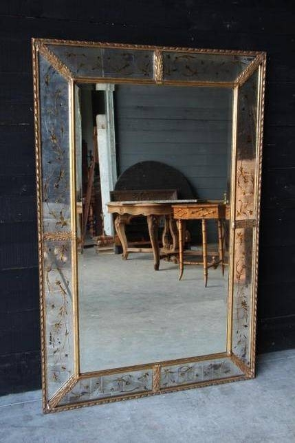 Mirrors – European Antique Warehouse Throughout Silver Gilded Mirrors (#27 of 30)