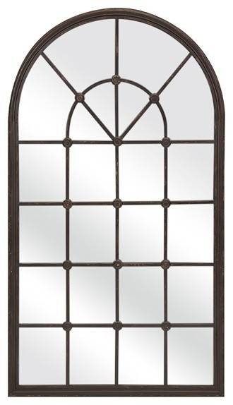 Mirrors For The Wall, Window Pane Decor Arched Window Pane Wall Regarding Window Arch Mirrors (View 17 of 20)