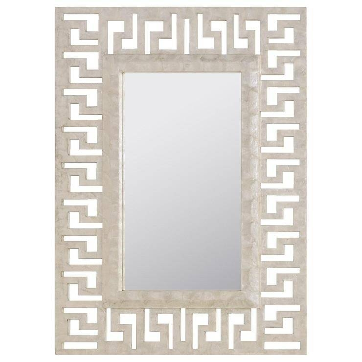 Mirrors – Gold Greek Key Mirror Inside Cream Mirrors (#24 of 30)