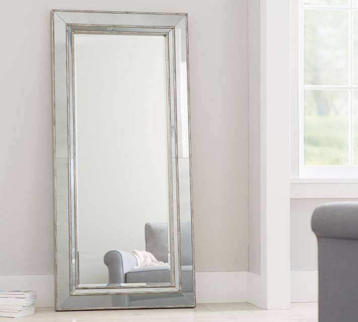 Mirrors | Pottery Barn With Black Leather Framed Mirrors (#24 of 30)