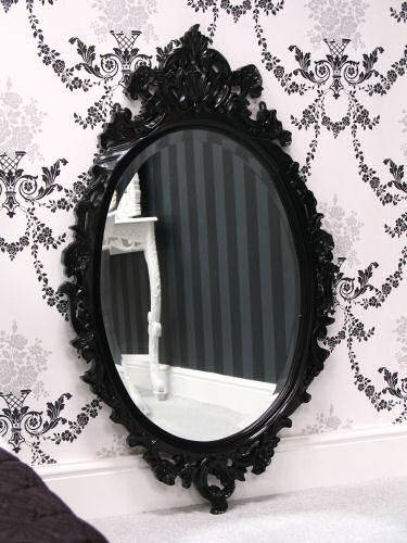 Mirrors Regarding Black Rococo Mirrors (#24 of 30)