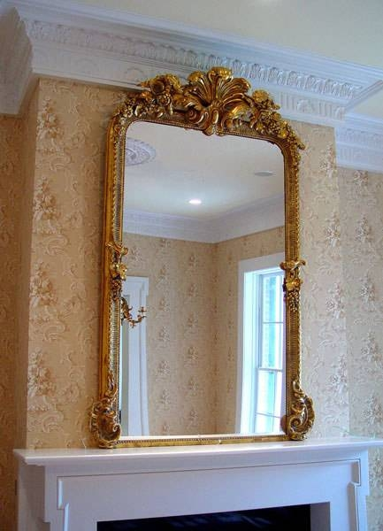 Mirrors < Shuptrine's Gold Leaf Designs | Fine American Art, Gold Inside Gold Mantle Mirrors (#25 of 30)