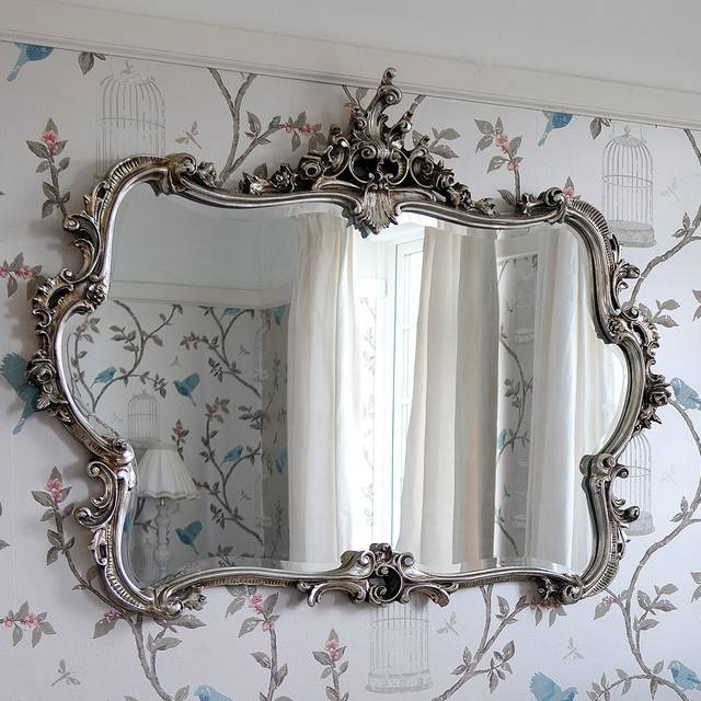 Miss Lala's Silver Looking Glass Wall Mirror – Rustic – Bedroom In French Wall Mirrors (View 4 of 20)