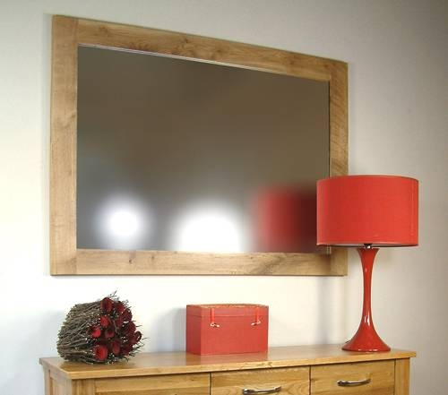Mobel Oak Wall Mirror | Oak Furniture Solutions Intended For Oak Wall Mirrors (View 1 of 15)