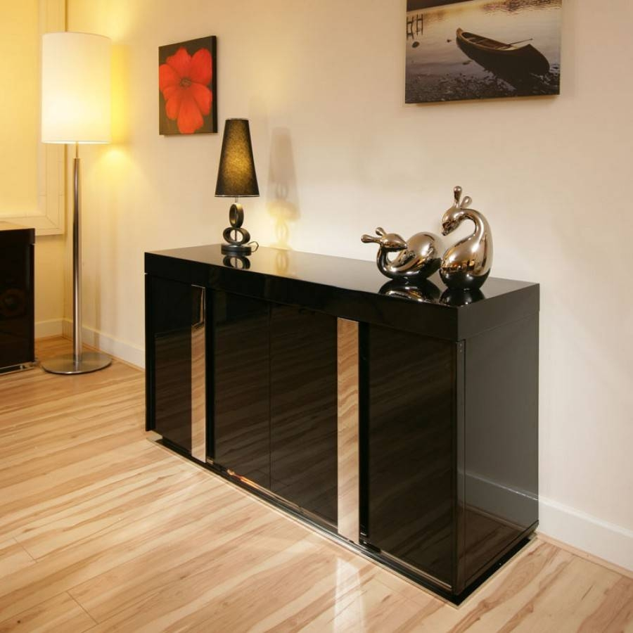 Modern Black High Gloss Sideboard / Cabinet / Buffet  (#16 of 20)