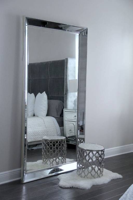 Modern Bling Floor Mirror Pertaining To Bling Floor Mirrors (#27 of 30)
