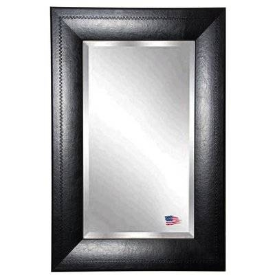 Popular Photo of Black Faux Leather Mirrors