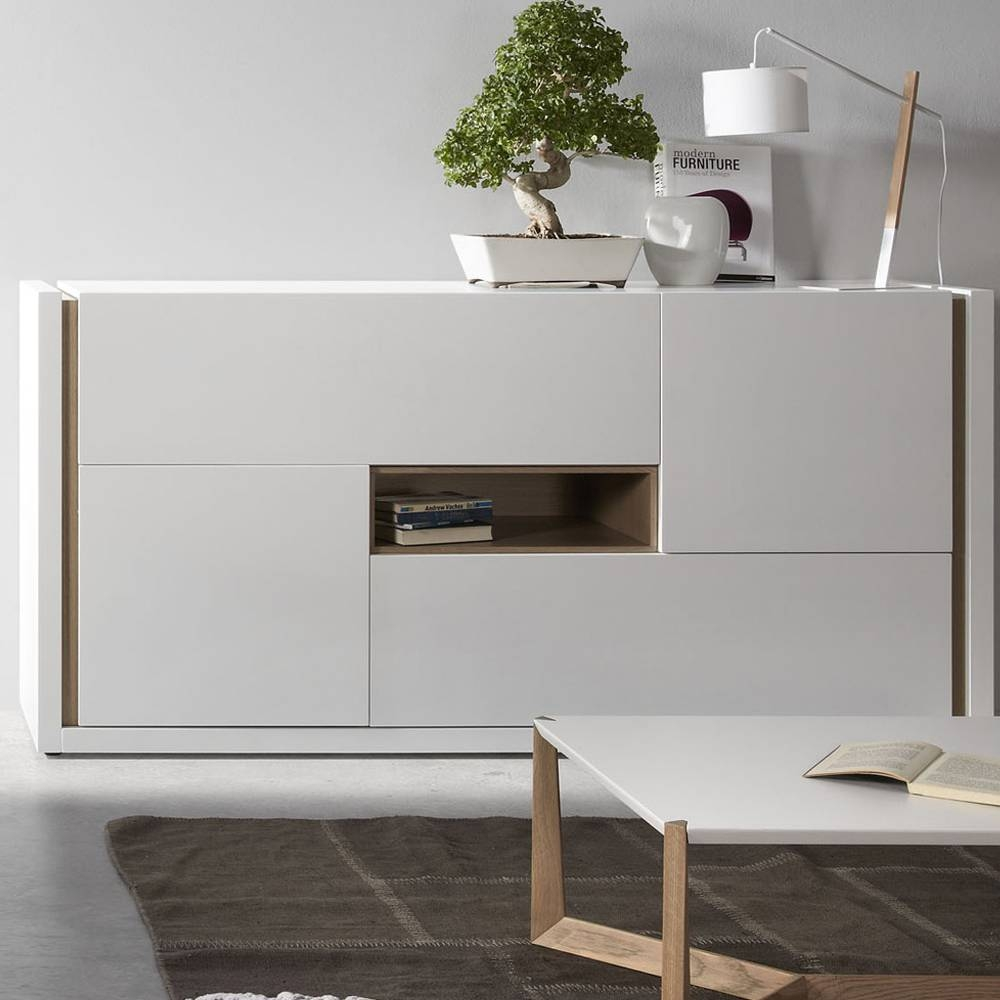 Modern Design Laquered Wood Sideboard Giove With Grey Wood Sideboard (#11 of 20)