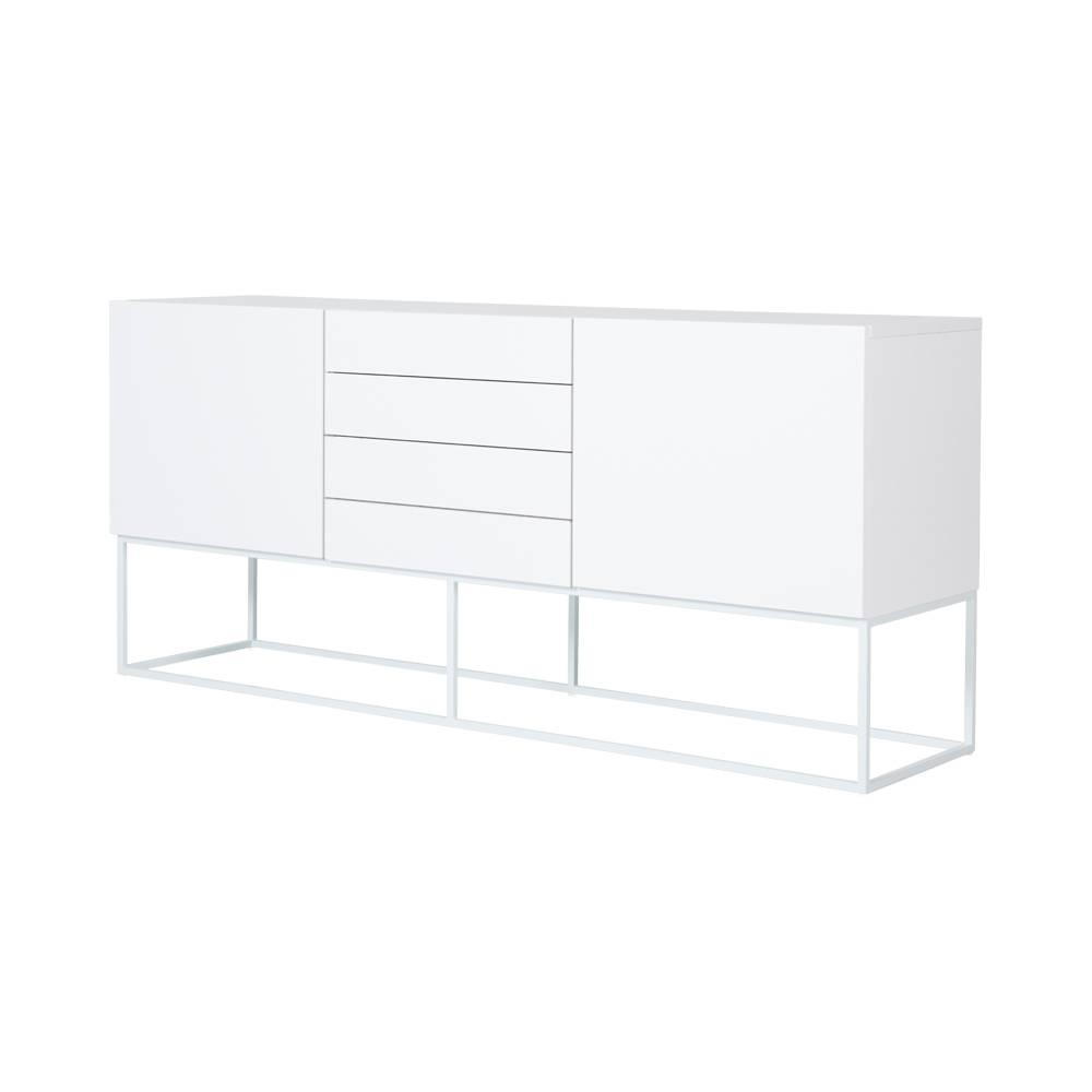 Modern Designer White Balmain Buffet/sideboard – White Steel Metal With White Sideboard Modern (View 17 of 20)