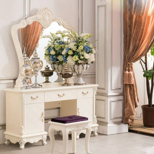 Modern Dressing Table With Mirrors, Modern Dressing Table With Within Dressing Mirrors (#19 of 20)