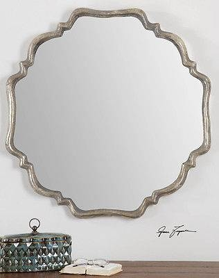 Modern / French Style Silver Finsh Vanity Foyer Mantel Entry Wall For French Style Wall Mirrors (#23 of 30)