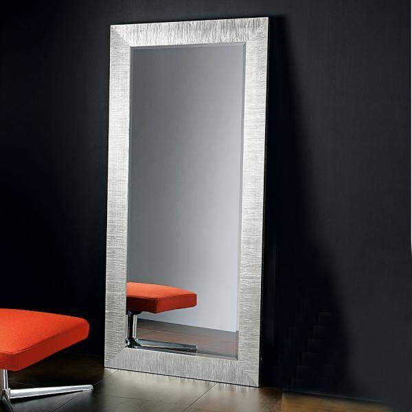 Modern Full Length Pezzani Mirror In Silver Leaf Throughout Full Length Silver Mirrors (#14 of 20)