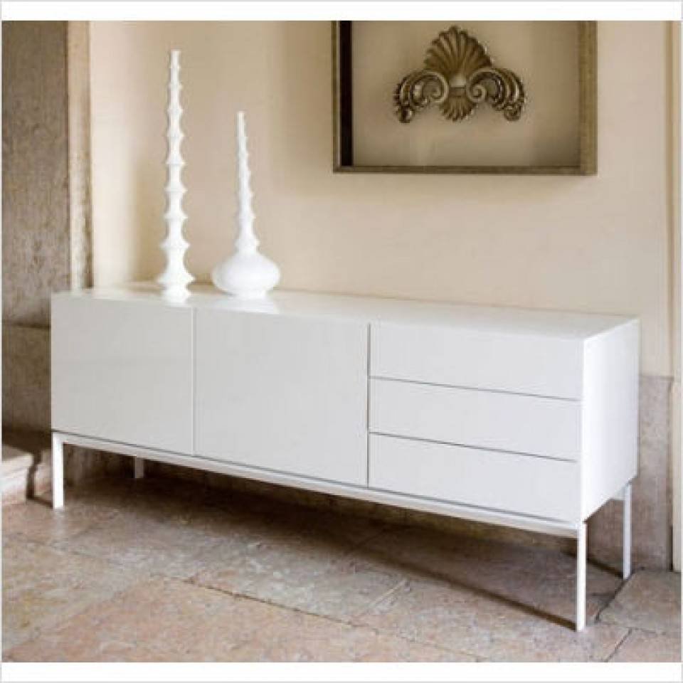 Modern Glare Sideboard, Buffet In White Lacquer In White Sideboard Modern (View 11 of 20)