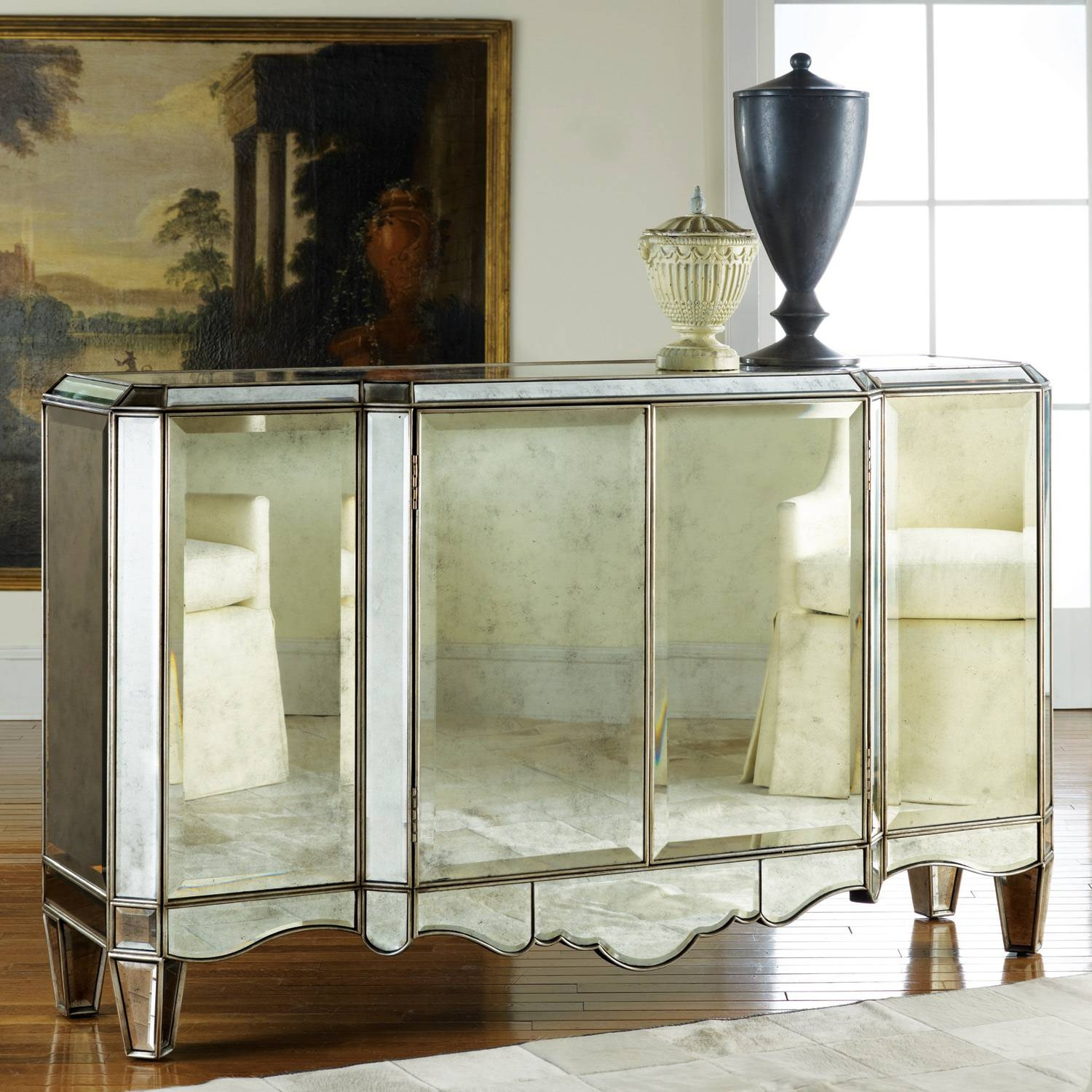 Modern History Home Mirrored Sideboard Intended For Mirrored Sideboards (#12 of 20)