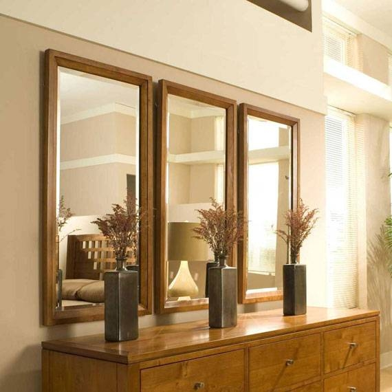 Modern Large Wall Mirror For Interiors Intended For Triple Mirrors (#14 of 30)