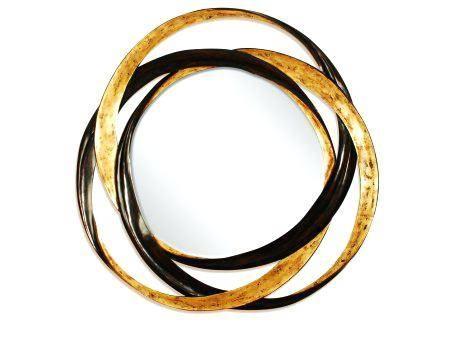 Modern Metal Framed Mirror Medium In Gold Platemodern Mirrors Inside Modern Gold Mirrors (View 13 of 20)