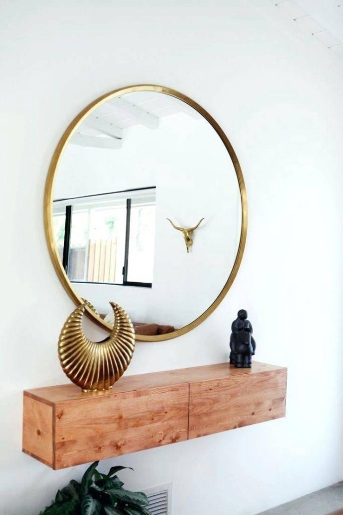 Modern Metal Framed Mirror Medium In Gold Platemodern Mirrors With Regard To Modern Gold Mirrors (View 9 of 20)