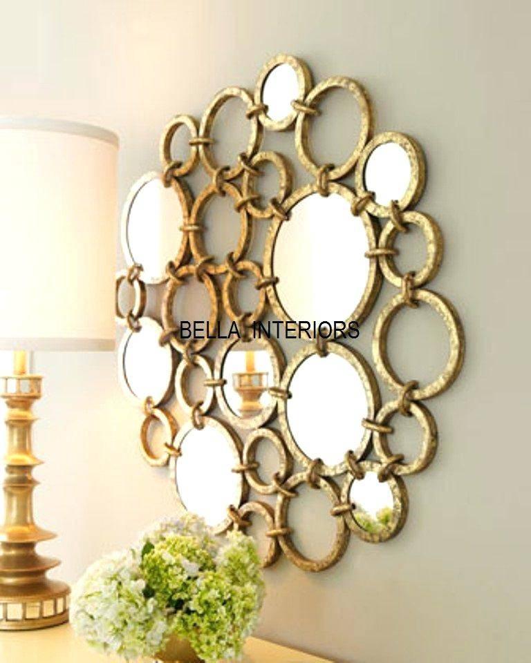 Modern Metal Framed Mirror Medium In Gold Platemodern Mirrors Within Modern Gold Mirrors (View 8 of 20)