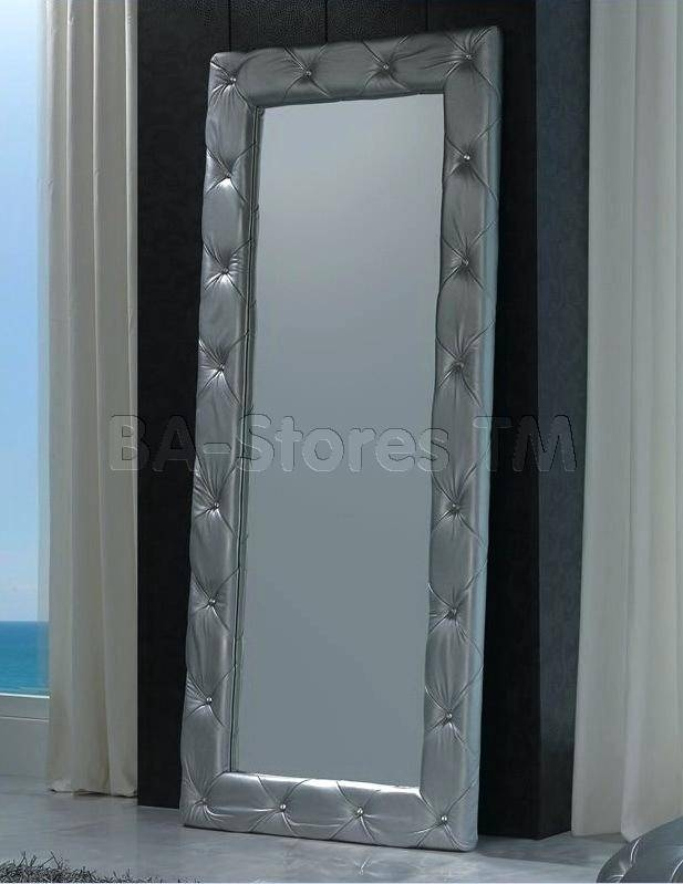 Modern Mirrors Large Contemporary Floor Minimalist Foyer Loft Diy With Silver Free Standing Mirrors (View 7 of 20)