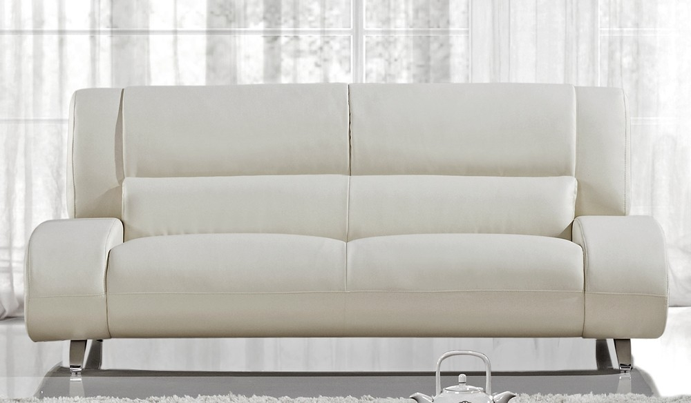 Modern Off White Leather Sofa Inside Off White Leather Sofa And Loveseat (#7 of 15)