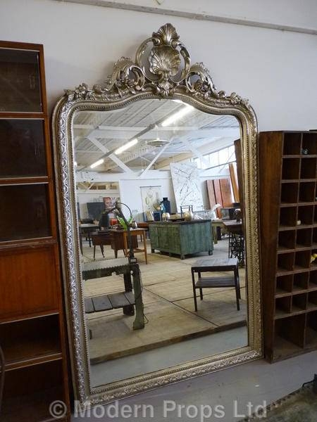 Modern Props Throughout Large Silver Vintage Mirrors (#27 of 30)