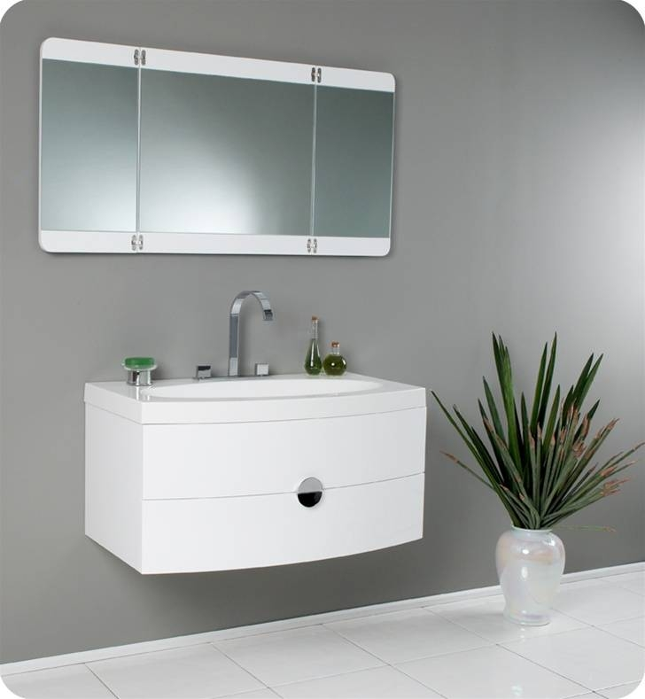 Modern Vanity Mirrors For Bathroom | Home Design Ideas, Pictures In Contemporary White Mirrors (View 6 of 15)