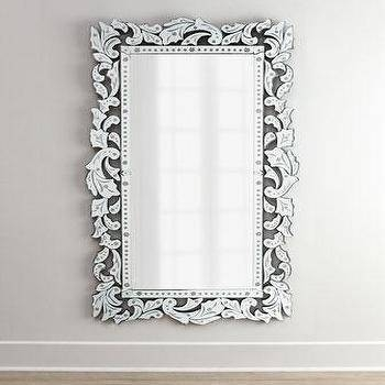 Modern Venetian Rectangle Mirror – Simply Mirrors For Rectangular Venetian Mirrors (#11 of 30)