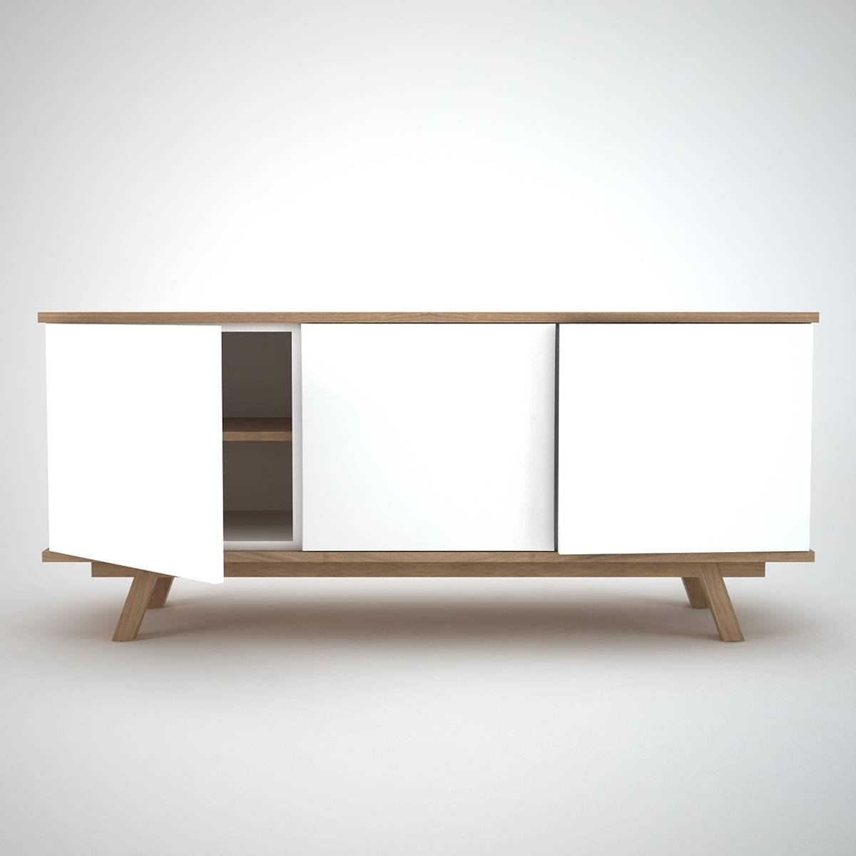 Modern White Sideboards Buffets Allmodern (View 20 of 20)