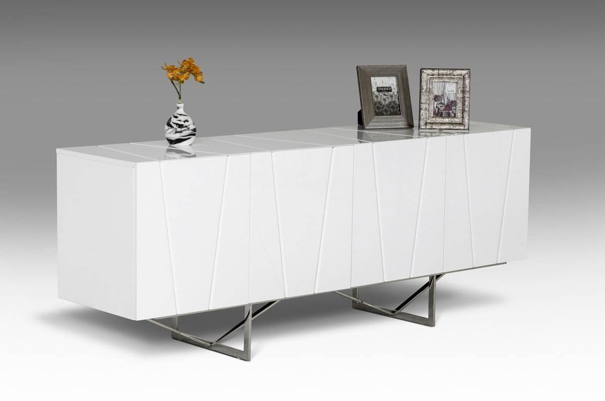 Modrest Chrysler Modern White High Gloss Buffet – Buffets – Dining Inside White Sideboard Modern (View 15 of 20)