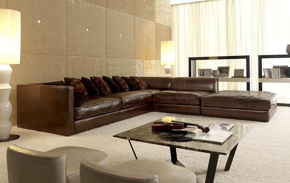 Modular Leather Sectional Sofa Leather Sectional Sofa Inside Leather Modular Sectional Sofas (#11 of 15)