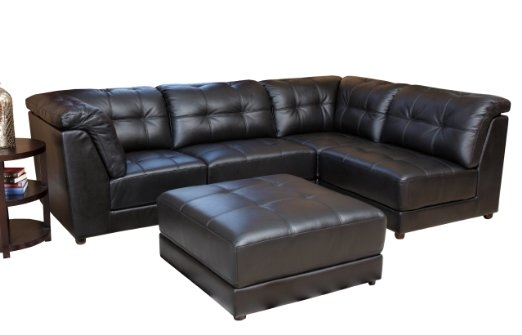 Modular Sectional Sofa Leather Leather Sectional Sofa Throughout Leather Modular Sectional Sofas (#13 of 15)