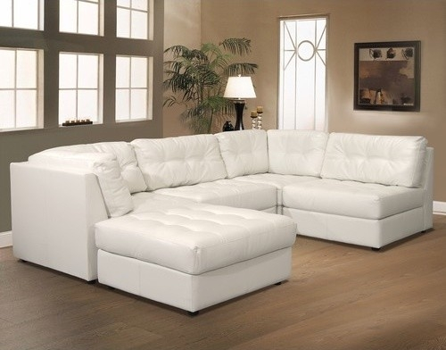 Modular Sofa Sectional Leather Sectional Sofa Pertaining To Leather Modular Sectional Sofas (#14 of 15)