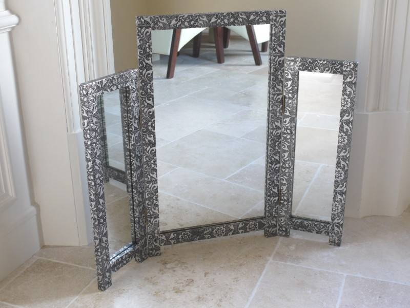 Monique Range – Silver Dressing Table And Mirror – Melody Maison® Regarding Silver Dressing Table Mirrors (#15 of 20)