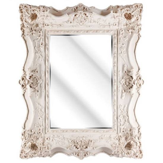 Montigo Ornate Wall Mirror In An Ivory Frame 25211 With Ivory Ornate Mirrors (#15 of 20)
