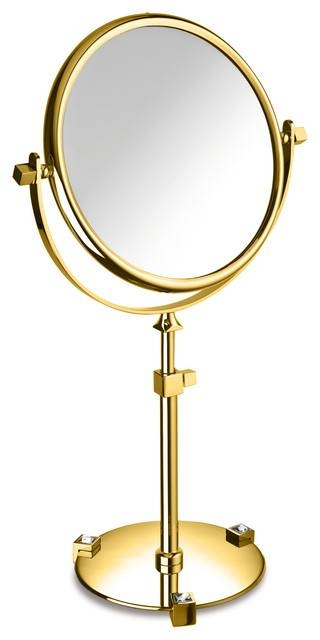 Moonlight Gold Table 5X Circular Magnifying Adj Mirror With With Gold Table Mirrors (View 5 of 20)