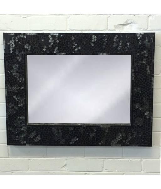 Mosaic 65X85Cm Black Spark In Black Mosaic Mirrors (#16 of 30)