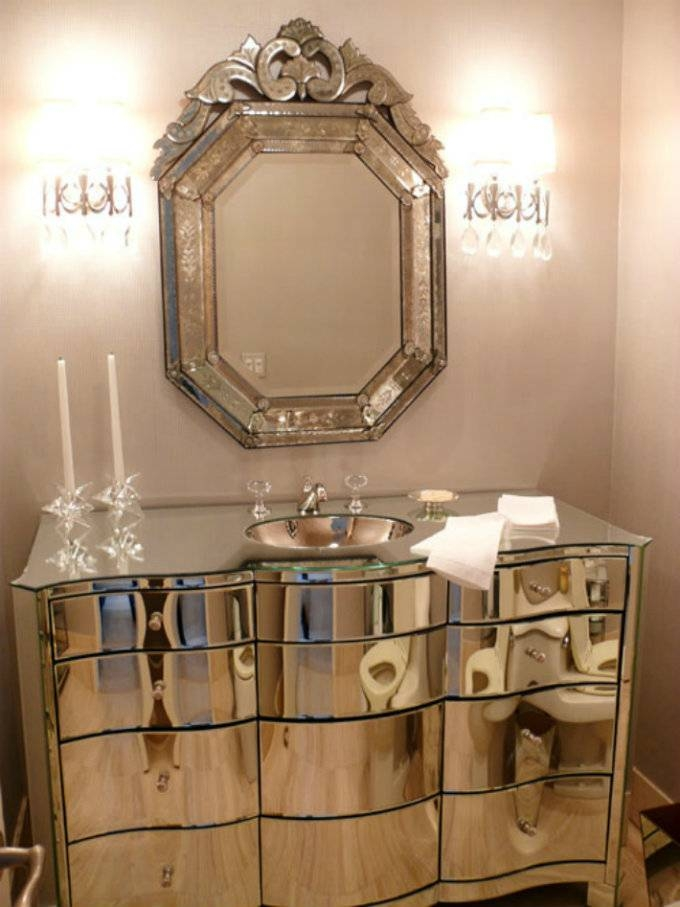 Popular Photo of Venetian Bathroom Mirrors