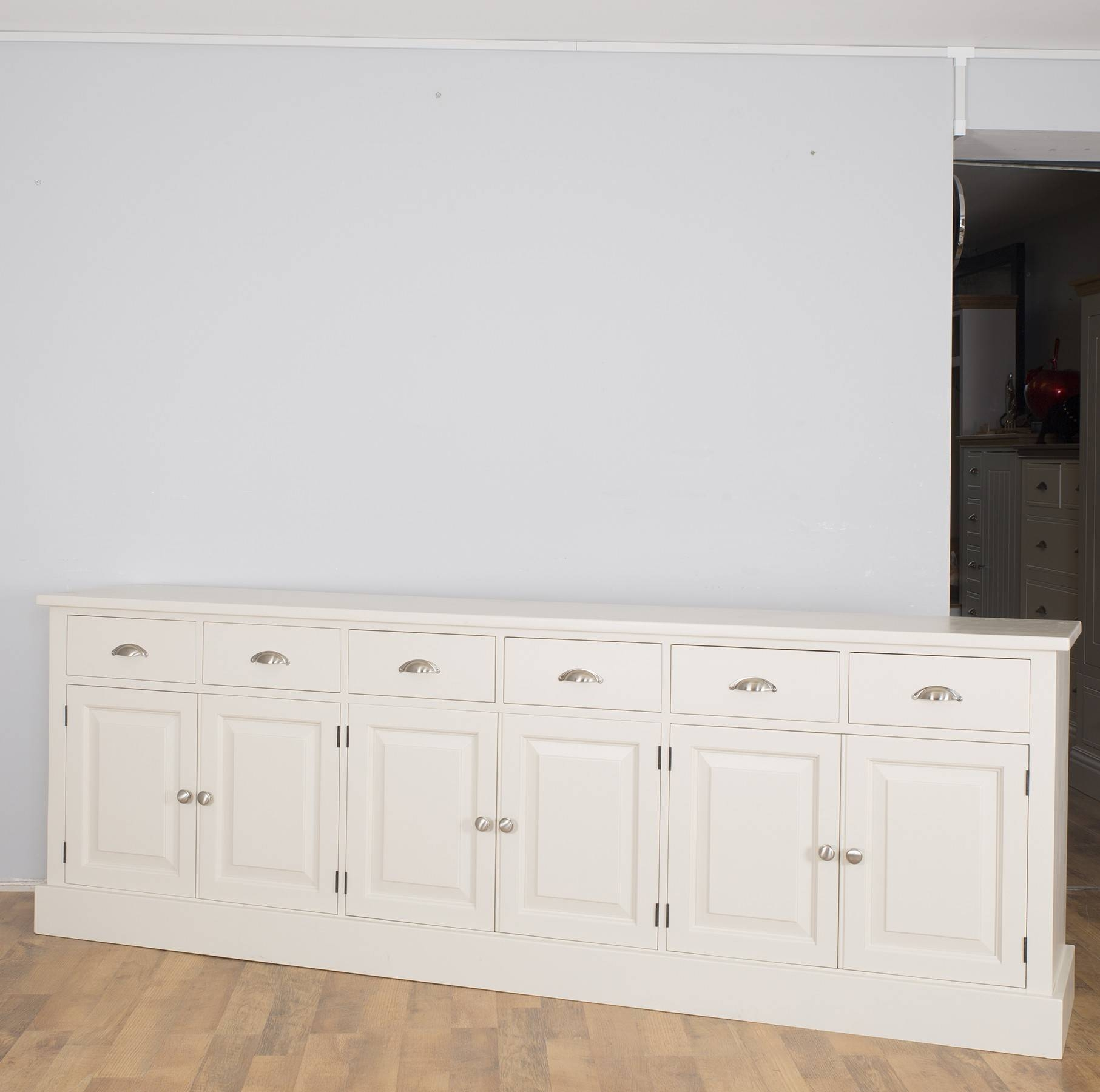 Popular Photo of Large White Sideboard