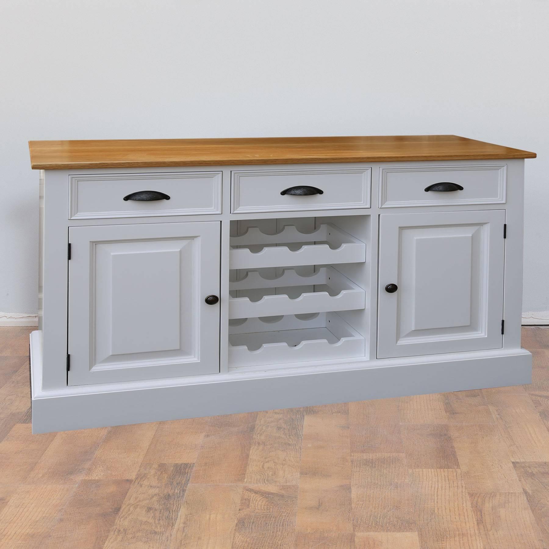 Mottisfont Solid Pine Painted Provence Sideboard | Furniture4Yourhome Inside Sideboards Uk Sale (#12 of 20)