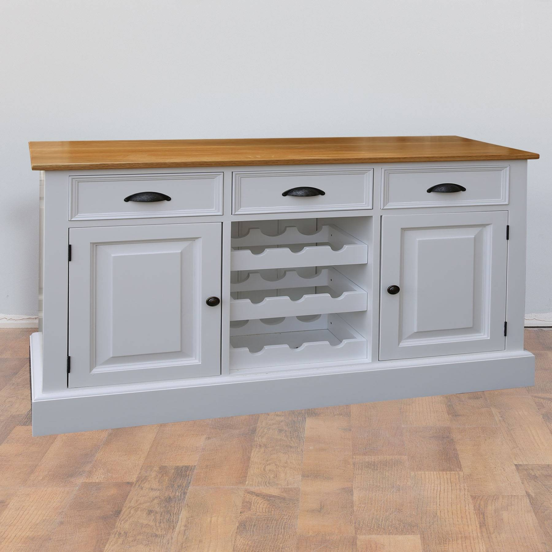 Mottisfont Solid Pine Painted Provence Sideboard | Furniture4Yourhome Throughout Sideboards For Sale (#9 of 20)
