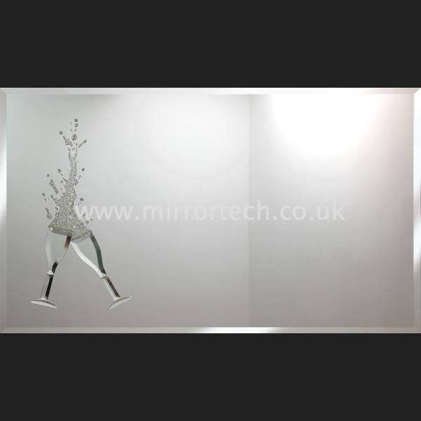 Mt 56 Cheers Gold Glitter On Mirror Pertaining To Liquid Glass Mirrors (#25 of 30)
