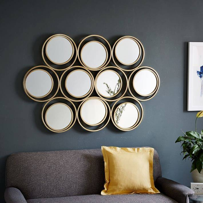 Multi Circle Mirror | West Elm Pertaining To Mirrors Circles For Walls (#23 of 30)