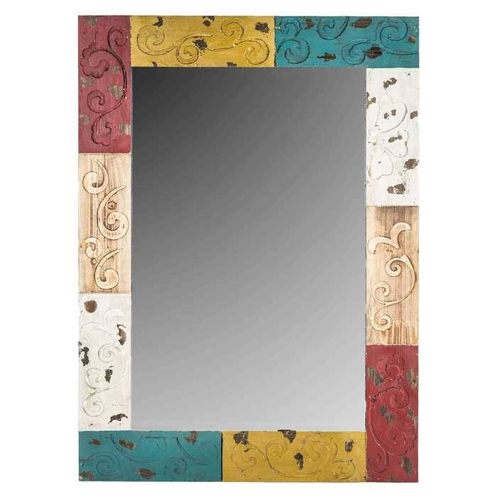 Multi Color Wood Wall Mirror | Hobby Lobby | 828111 Inside Red Wall Mirrors (#18 of 30)