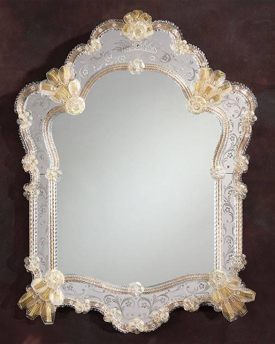 Murano Glass Mirror And Venetian Glass Mirror Pertaining To Venetian Glass Mirrors (#7 of 15)